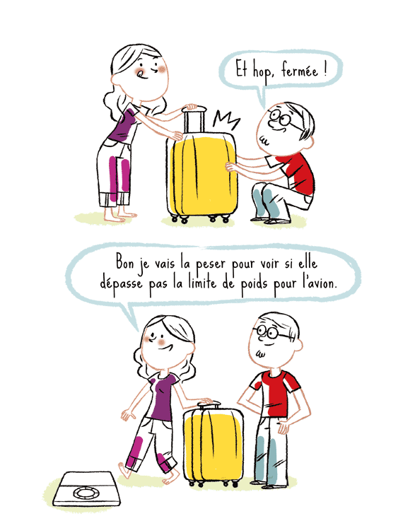 et hop fermée. Bon je vais la peser pour voir si elle dépasse pas la limite de poids pour l'avion.Blog bd Japon