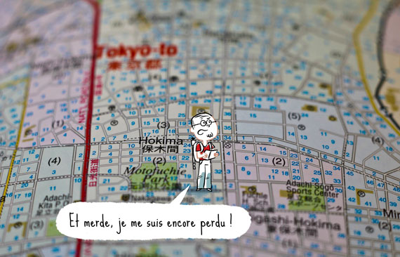 carte de Tokyo, le blog Bd Japon