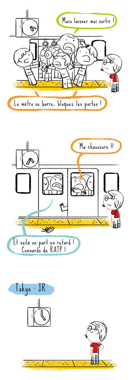 blog japon, metro paris, rer