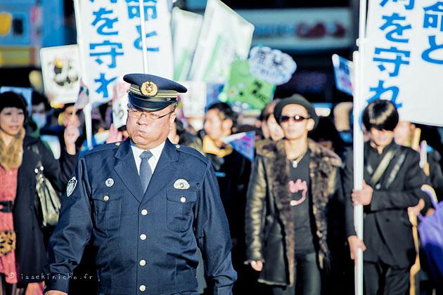 no-nuke, manifestation, anti-nucléaire,Tokyo, blog, photo, photo de rue, street photography