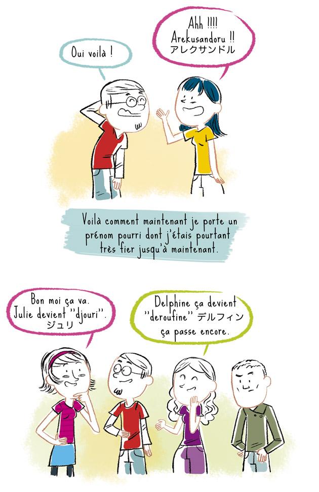 Prénoms français en japonais