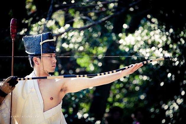 Momote shiki, archer japonais, tir à l'arc japonais