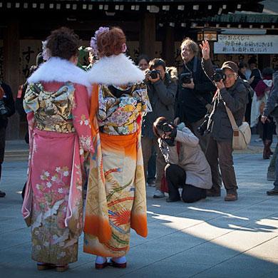 Matsuri de début d'année à Tokyo