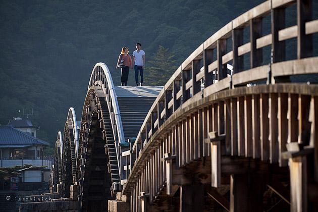 kintaikyo, iwakuni, pont en bois, japon