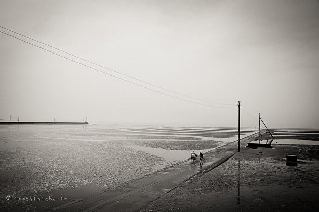 misumi, plage, oda, marée basse, kyushu