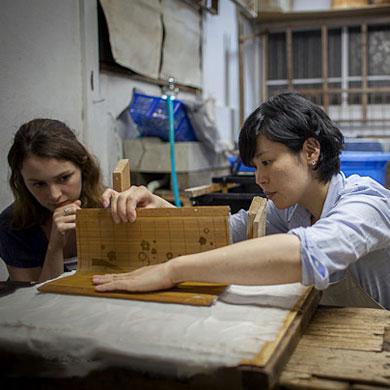 "Atelier ""washi"" avec Chiaki Morita 森田千晶"