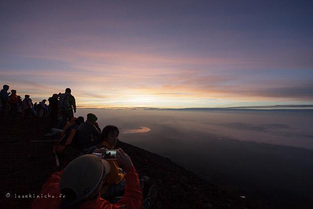 Mont Fuji, fujisan, sommet, levé de soleil, volcan, japon, japan