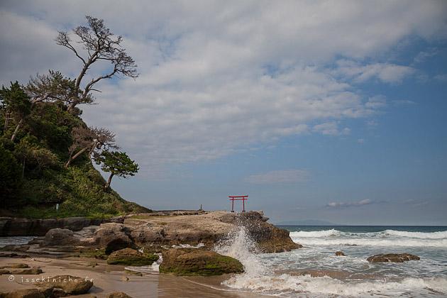 péninsule d'Izu, mer, japon, tori, plage