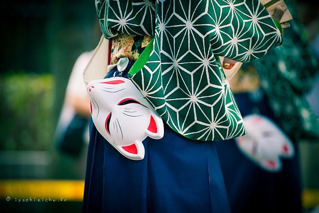 super yosakoi harajuku, tokyo, matsuri, danse, masque renard, kitsune