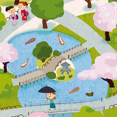 Tokyo ohanami – les illustrations