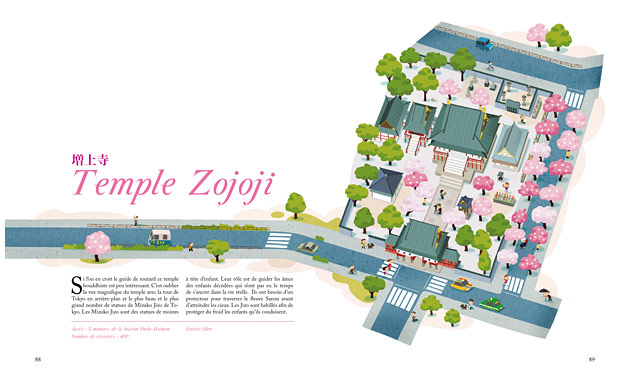 zojoji, illustration