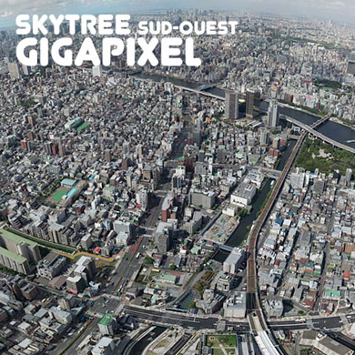 Skytree – south-west view – Gigapixel