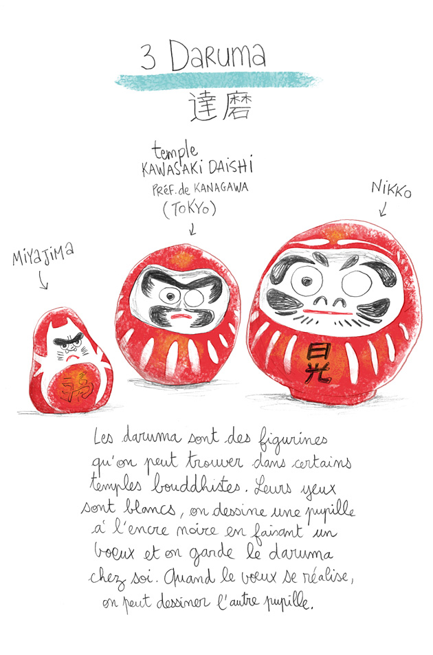 japan, daruma, illustration