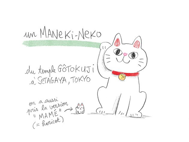 japon, manekineko, illustration