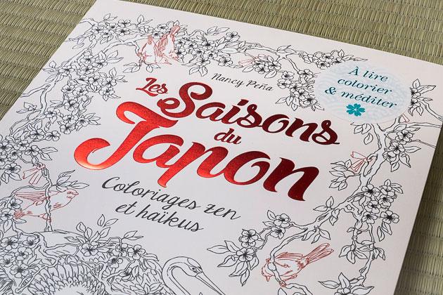 livre de coloriage japon