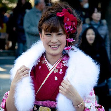 Seijin no hi au temple Meiji jingu