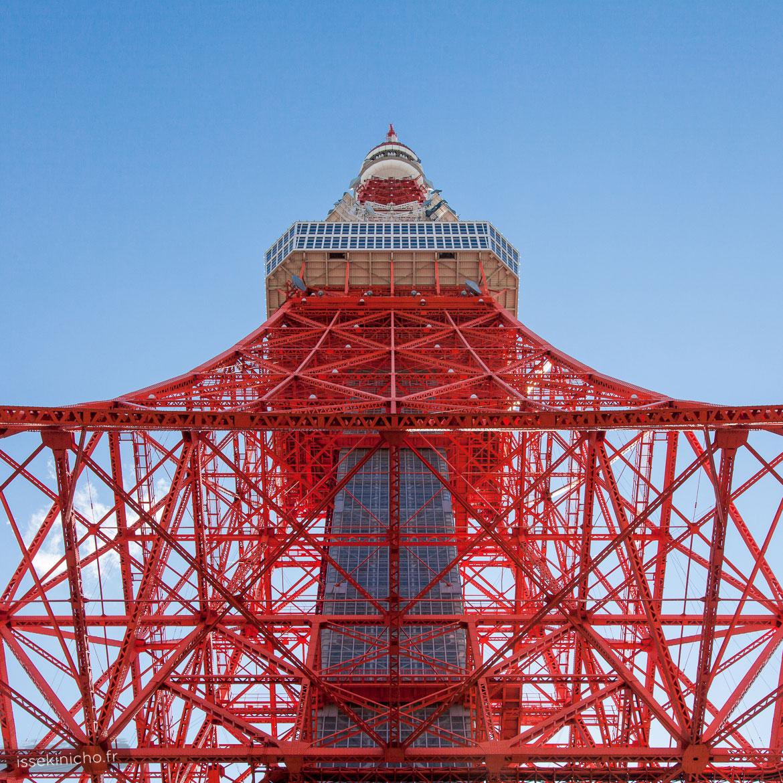 Tour de Tokyo en contre plongée