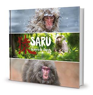 couverture d'un livre de photos animalières sur les singes du Japon