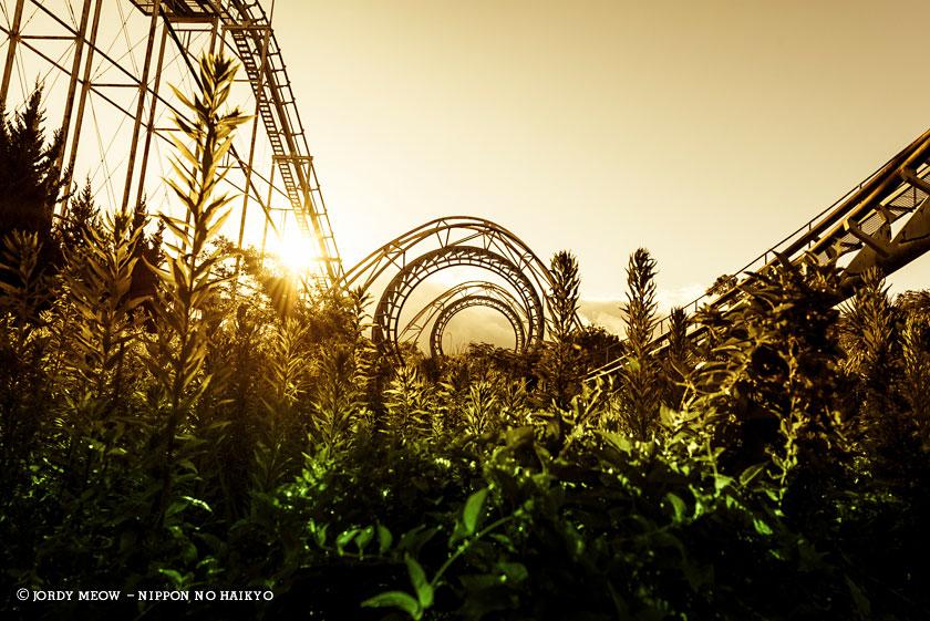 nippon no haikyo, beau livre japon, lieux abandonnés, lieu abandonné, urbex, nara dreamland, parc d'attraction, roller coaster