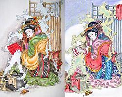 coloriages concours Les Saisons du Japon