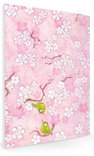 carnet, note, A6, sakura, cerisier