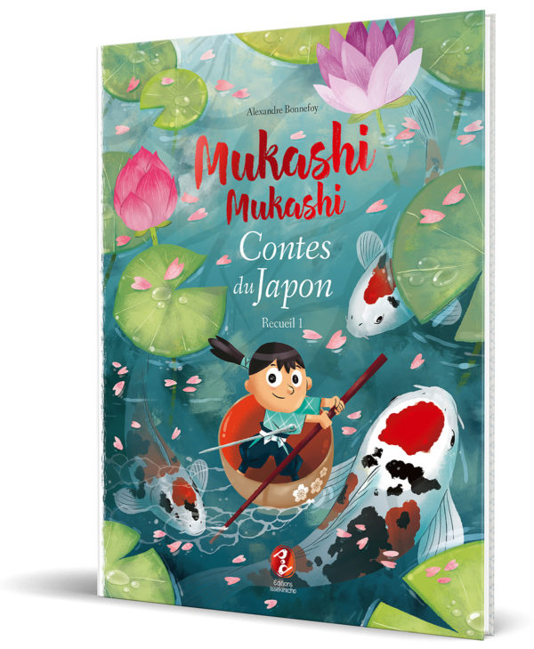 Couverture de livre de contes japonais illustrés